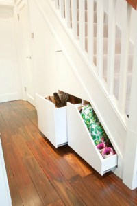 Store things at home under your stairs