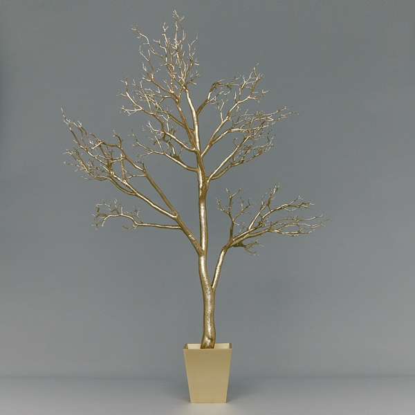5 contemporary christmas trees fresh design blog for Modern gold christmas tree