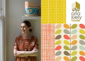 Orla Kiely designer wallpapers collection