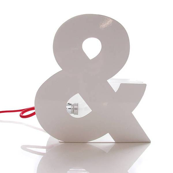 Fresh Design lighting: Ampersand typographic table lamp