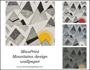 Miss Print designer wallpaper