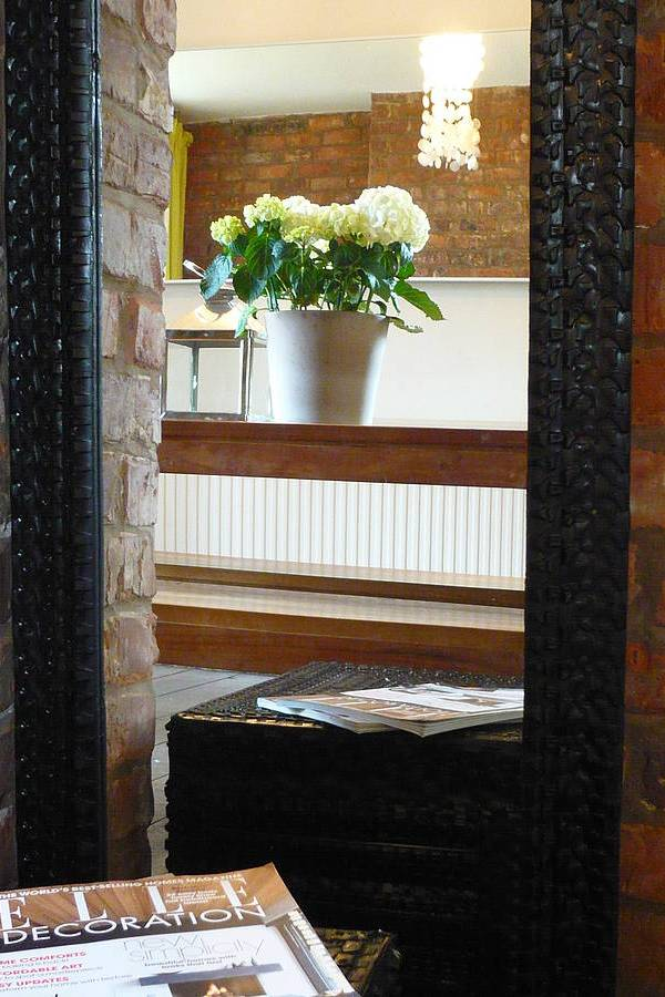 Recycled tyre frame mirror from Tread