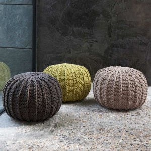 Cable knit home accessories