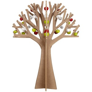 Contemporary Scandinavian wooden Christmas tree decorations