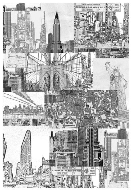 Spectacular New York city designer wallpaper New York wall mural