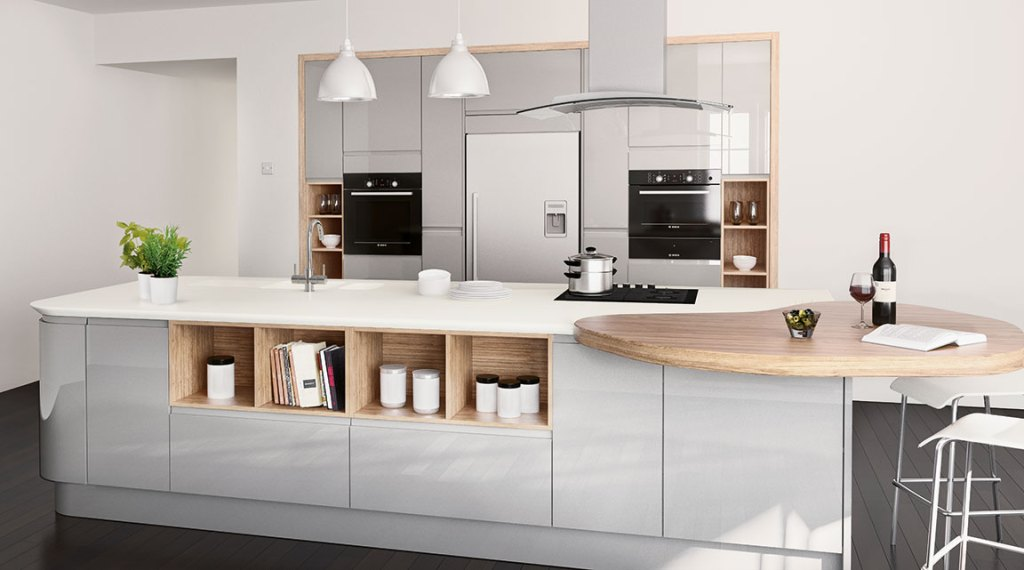 Modern grey Bloomsbury kitchen design - perfect for a contemporary home