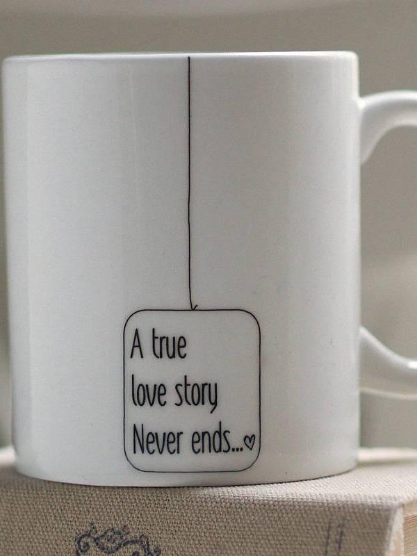Simply stylish love story china mug