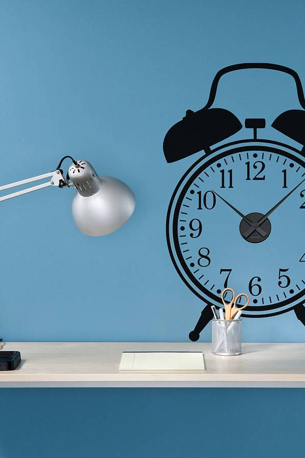 Working clock wall stickers from Spin Collective