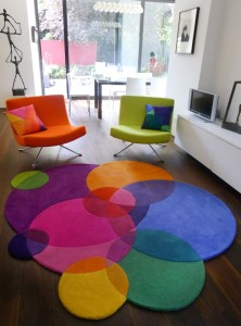 Designer rug for a modern home
