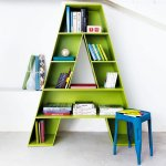 Letter A shaped bookcase for children's room
