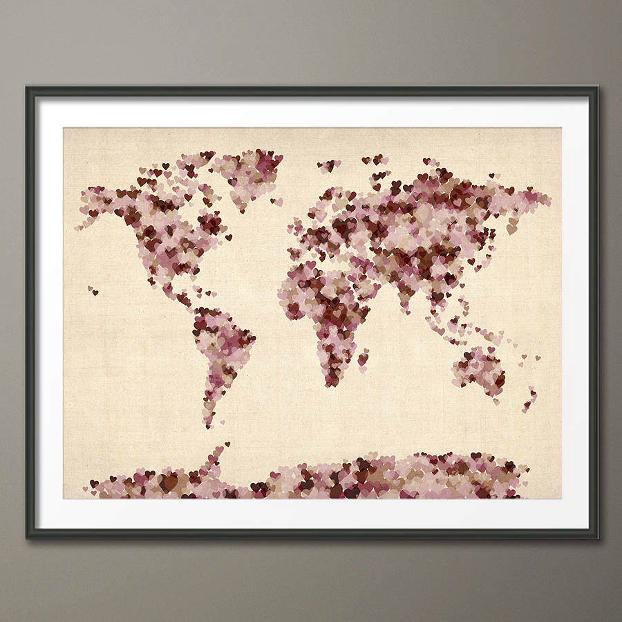 Luxury Fresh design creative world map art