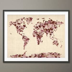 Fresh design creative world map art