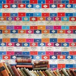 Penguin Library book wallpaper by Osborne & Little