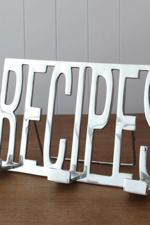 Fresh Design Kitchen: Useful chrome recipe holder stand