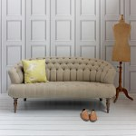 Limited edition natural linen Jester sofa