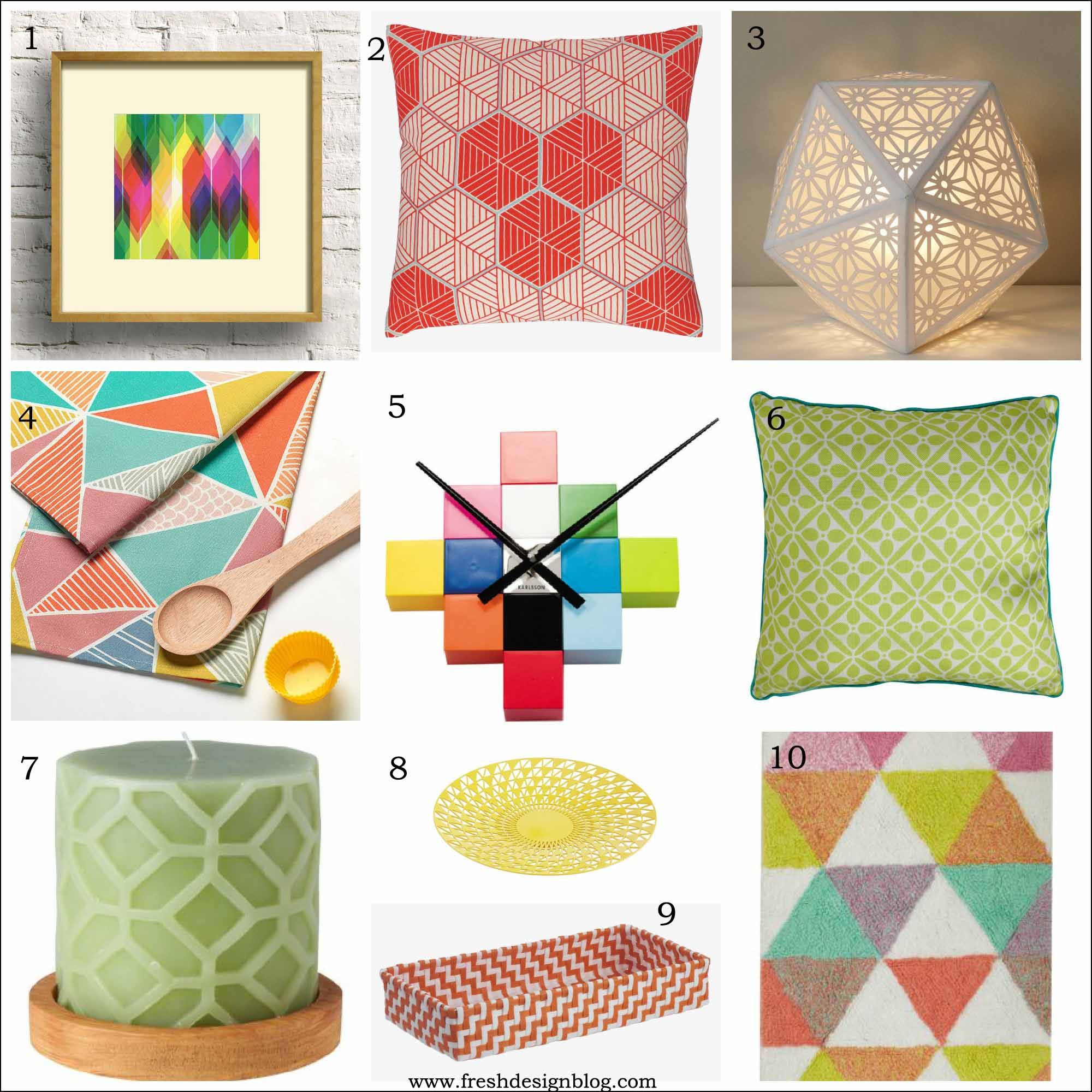 Most wanted high street hunter spring 2013 geometric home for Fresh design blog