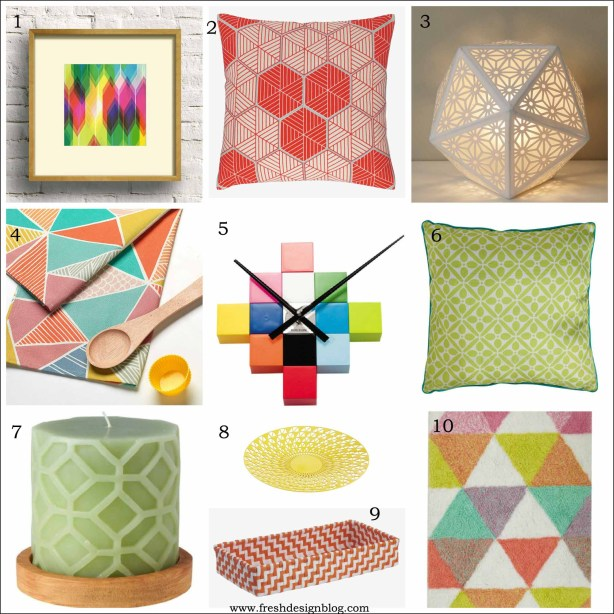 Spring geometric interior ideas for modern and contemporary homes