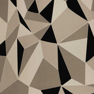 Contemporary geometric design flock wallpaper