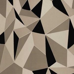 Contemporary geometric design flock wallpaper