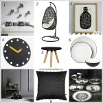 Black and white delight: Monochrome home accessories