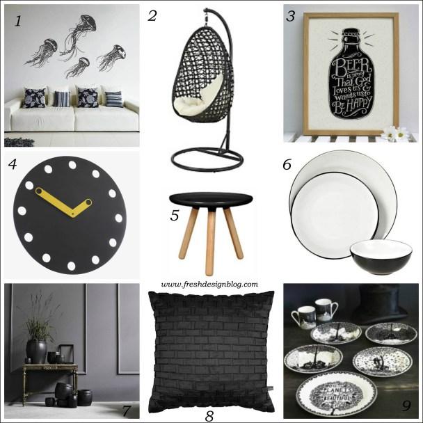 Interior design ideas in classic black and white
