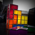 Funky fresh design Tetris table lamp