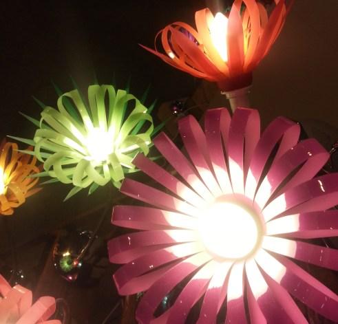 Light made from plastic bottles