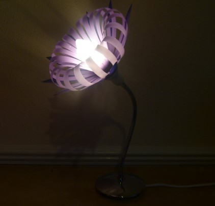Lamp made from plastic bottles