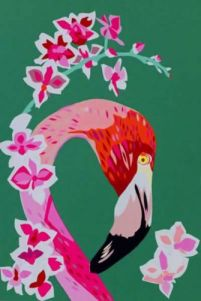 Contemporary flamingo home decor