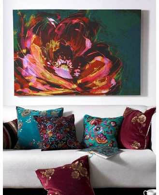 Bold floral wall art for a contemporary home