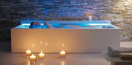 Contemporary design bath tub float