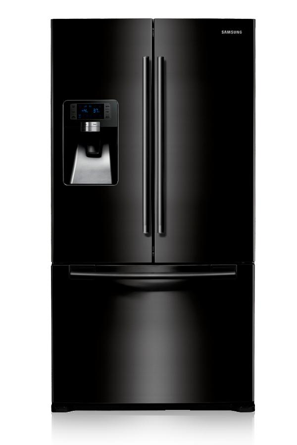 Samsung G-Series three door black fridge