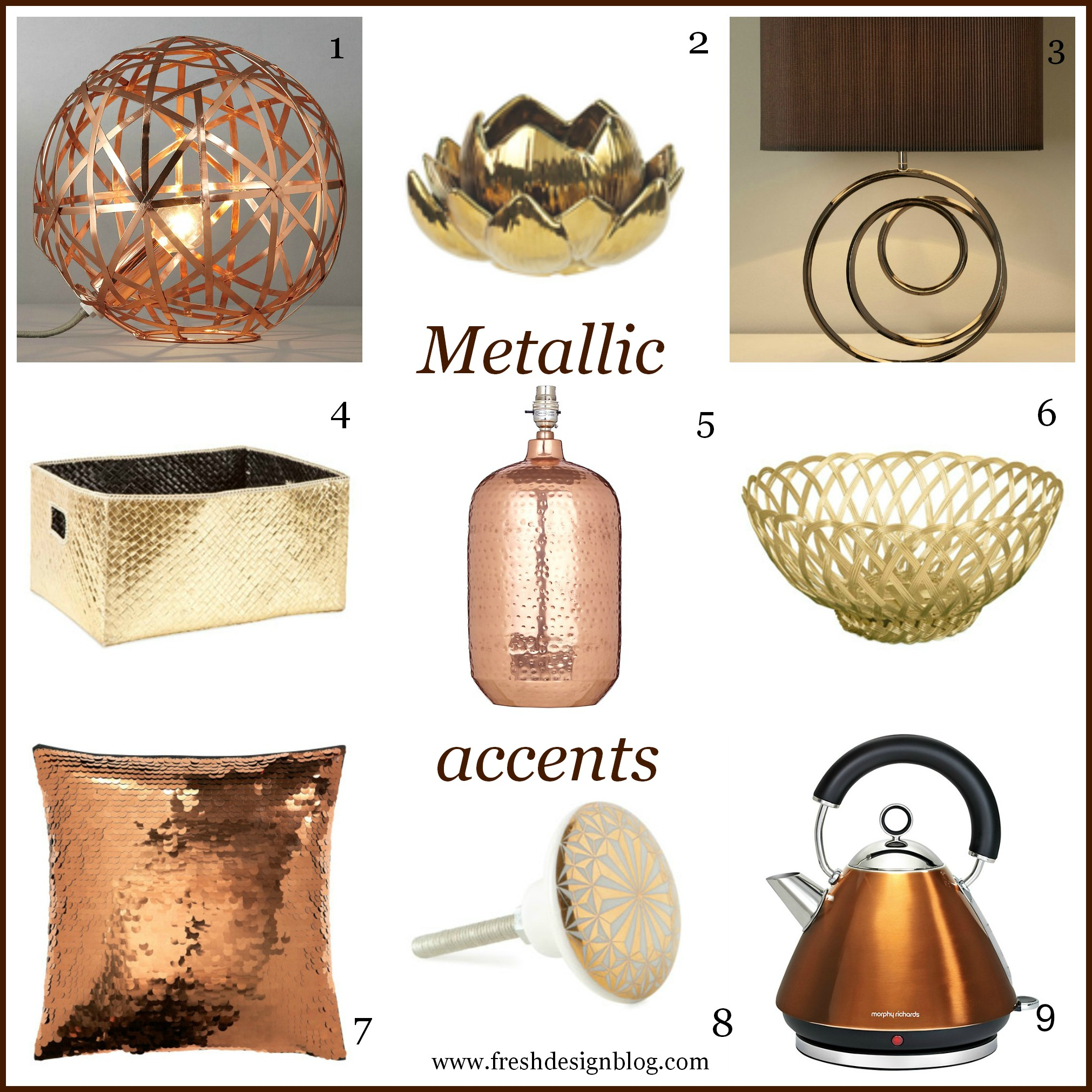 Most wanted high street hunter metallic accents autumn for Fresh design blog