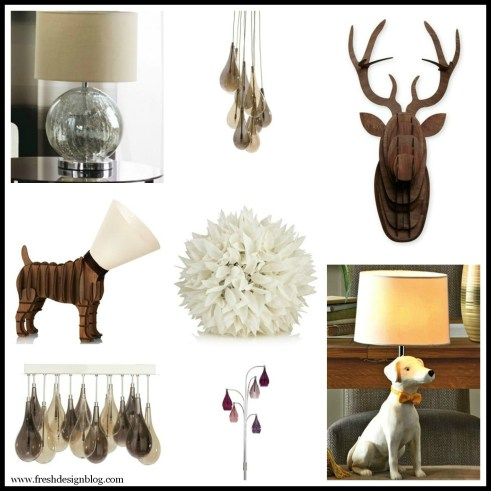 Contemporary modern home lamps