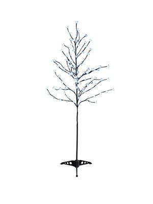 Outdoor Christmas twig tree light decorations