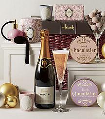 Chocolate and champagne pamper hamper