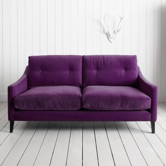 Contemporary home purple velvet sofa