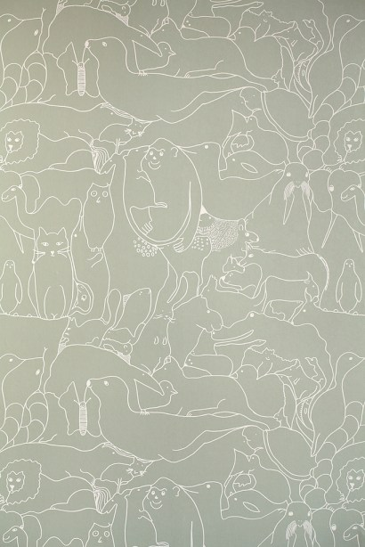 Animal theme graphic wallcovering