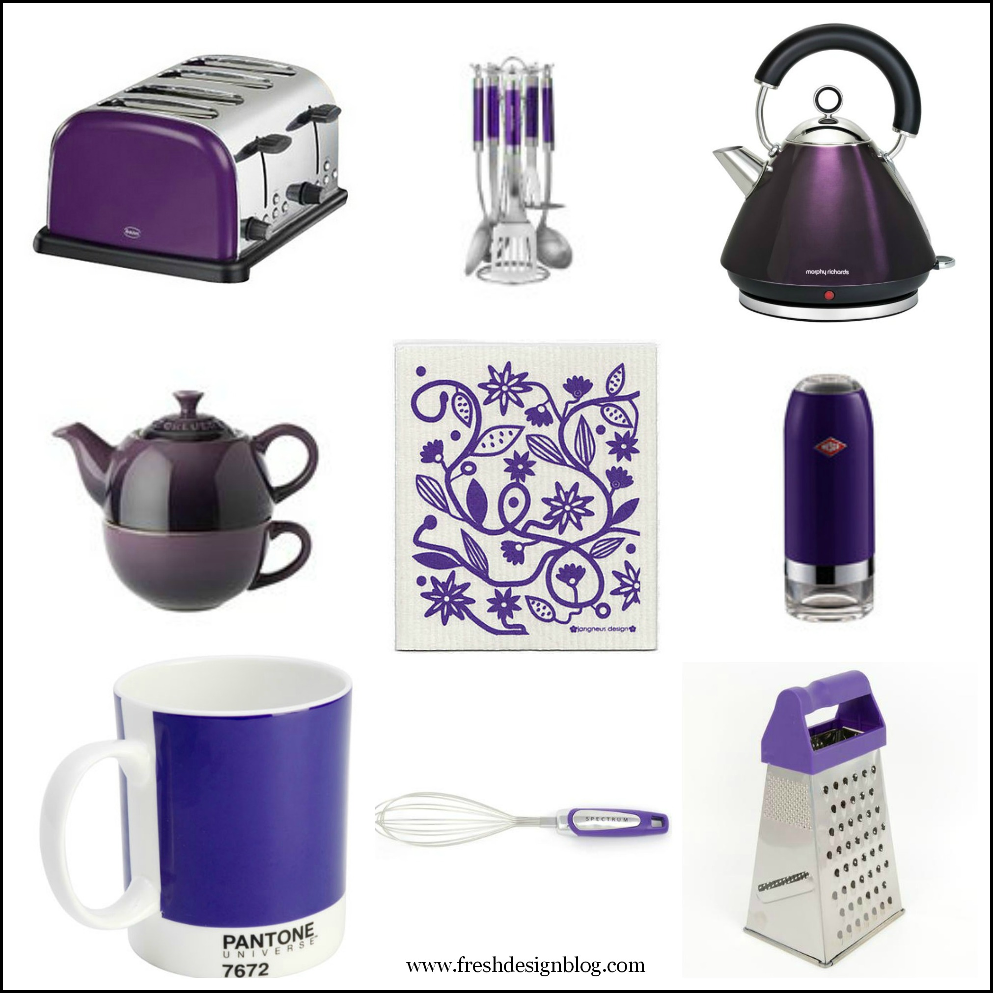 Kitchen kit: Purple themed kitchen accessories ~ Fresh ...