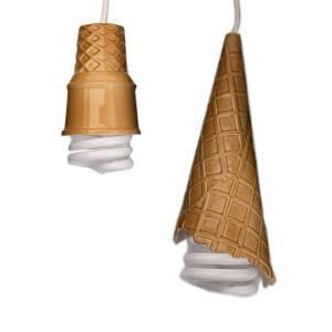 Novelty ice cream cone design lighting