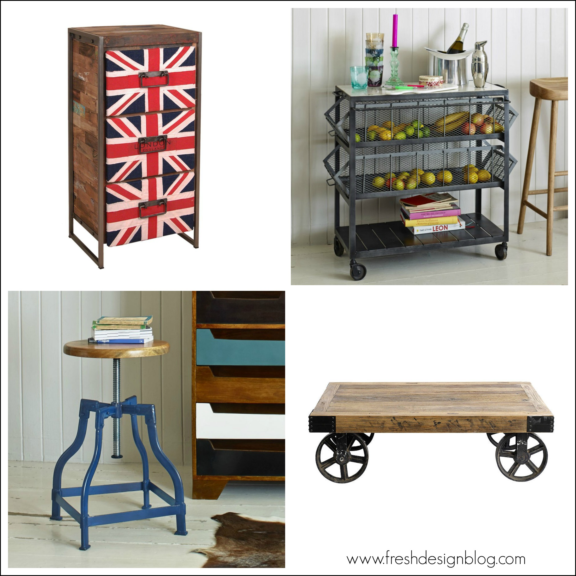Industrial style furniture: Four distinctive ideas for your home ...