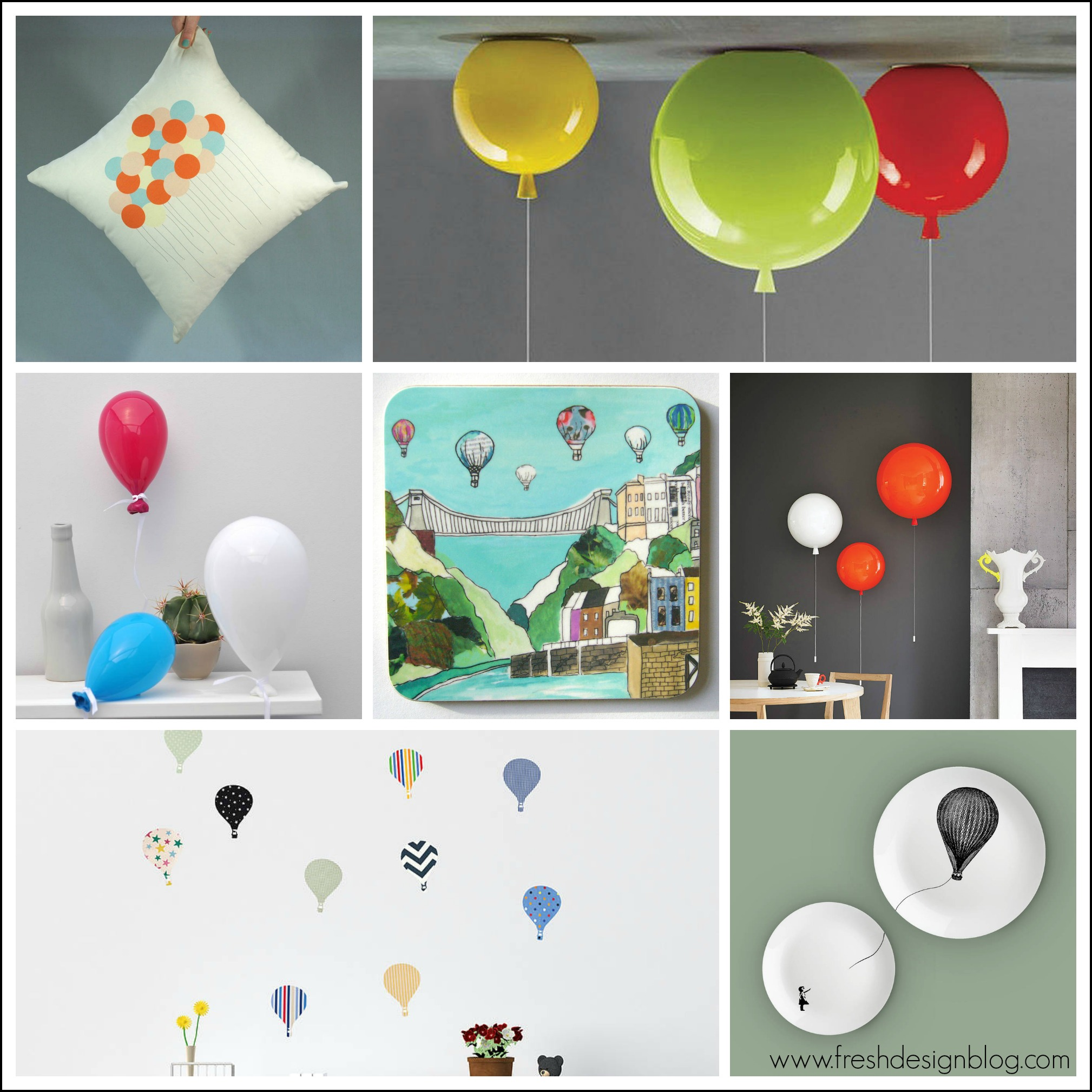 Up up and away balloon lights home accessories and for Fresh design blog