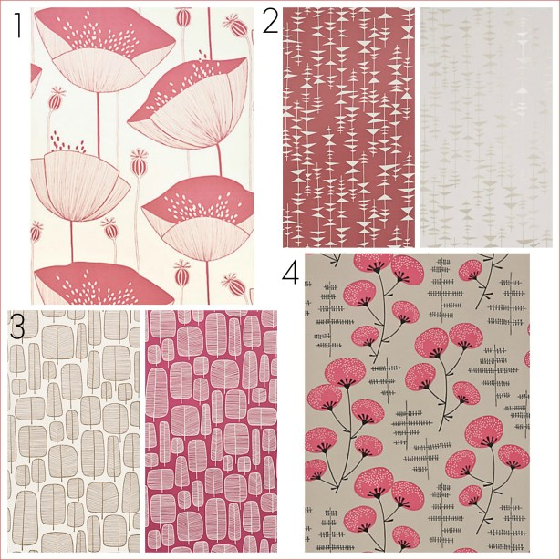 Four fresh wallpaper designs by MissPrint