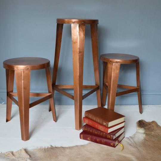 Danish design copper stools on Fresh Design Blog