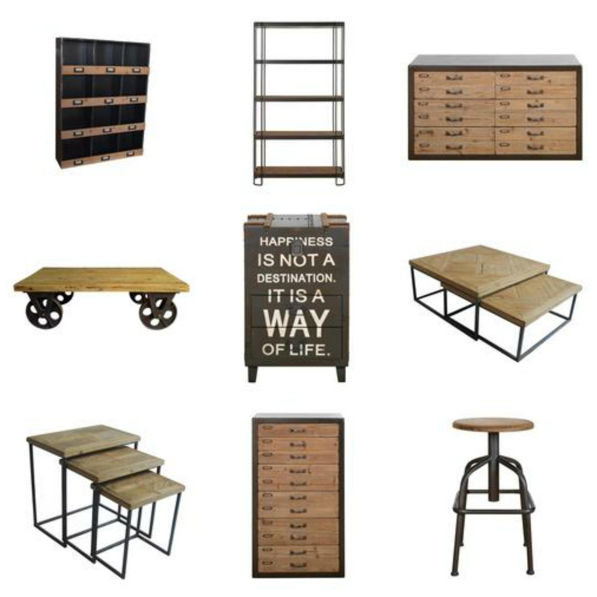 Spitalfields Industrial Rustic Living Room Furniture