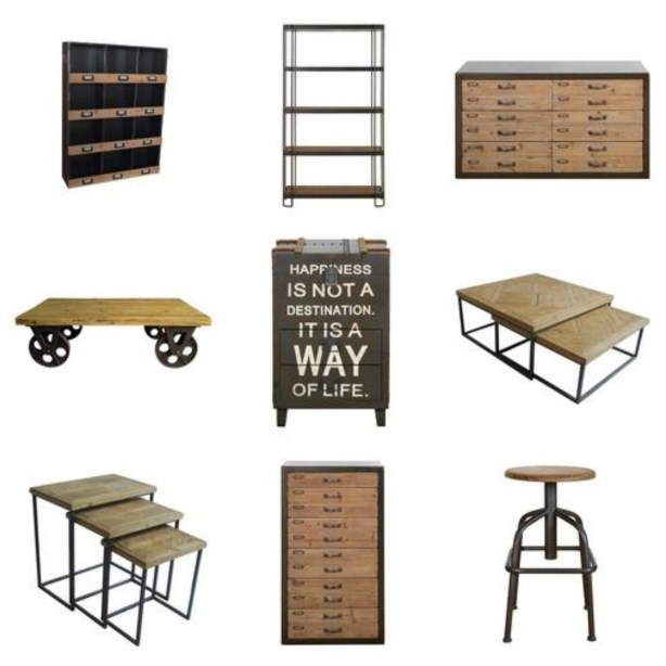 Contemporary fresh design industrial style furniture