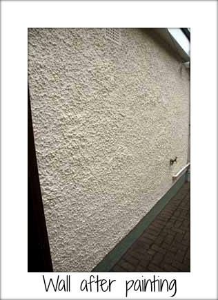exterior house wall after painting sandtex. Black Bedroom Furniture Sets. Home Design Ideas
