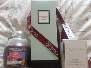 Candle and room diffuser goodies from Love Aroma