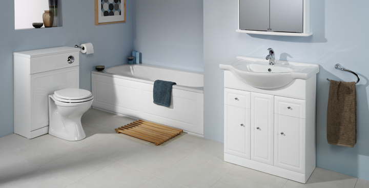 Fancy Pure simplicity fresh design bathroom decor scheme