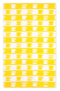 Bright yellow tea towel from Jangneus